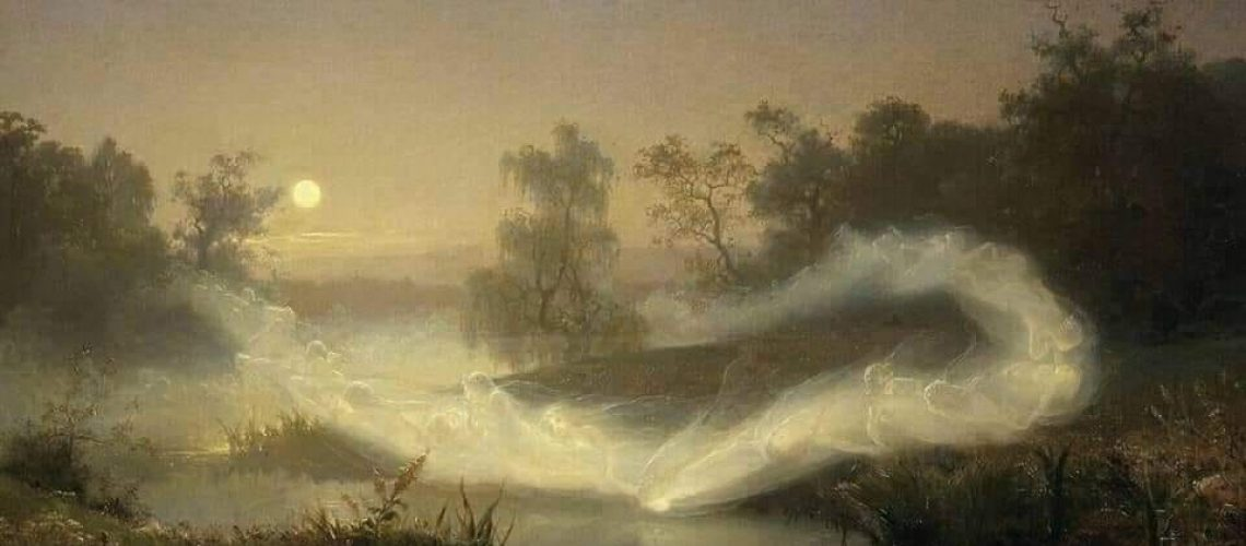 August Malmström (Swedish, 1829 - 1901) Dancing Fairies (1866)