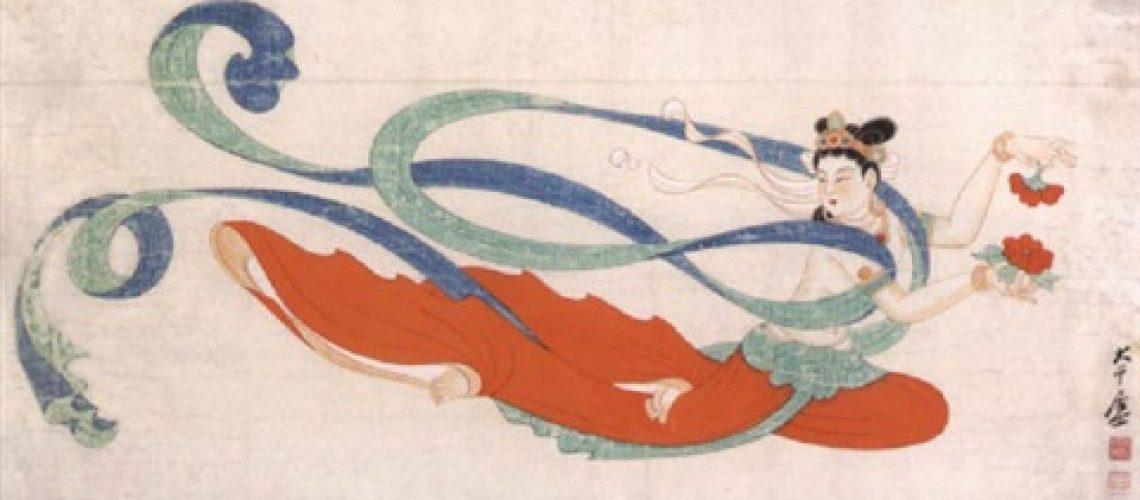 Flying Apsara by artist Zhang Daqian, Chinese, (1899–1983)