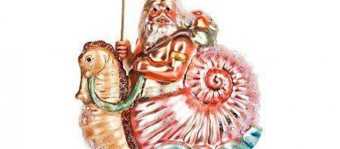 Neptune riding a seahorse