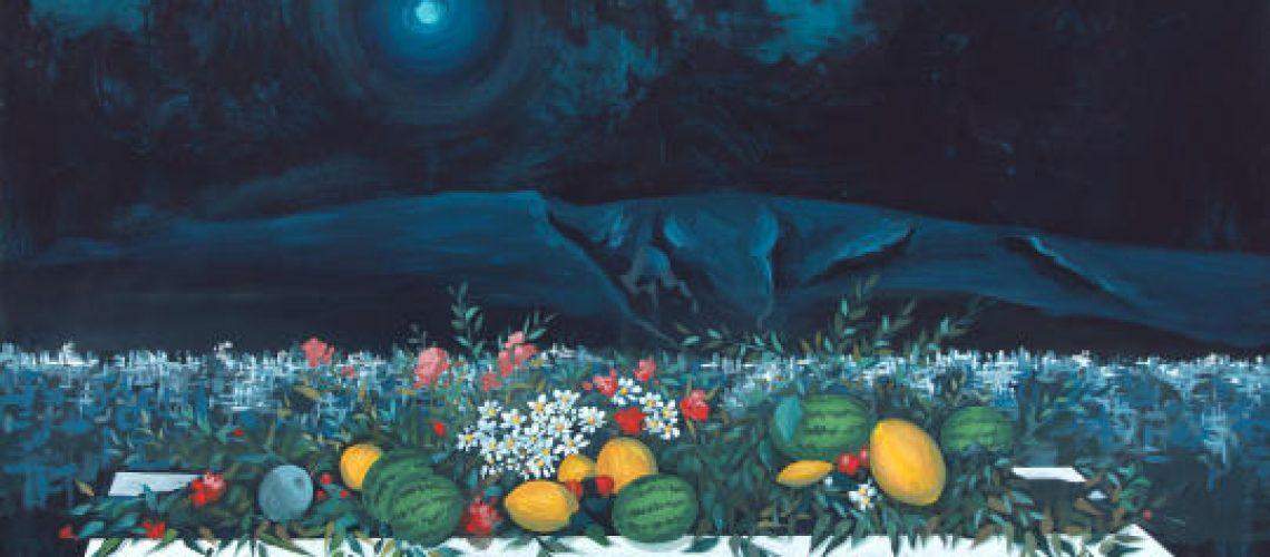 Spyros Vassiliou, Greek, 1902-1985 Summer night Nocturne No.1, 1974